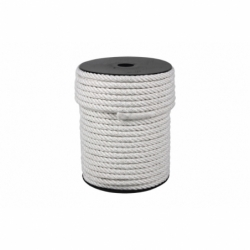 CARRETE CUERDA NYLON MATE 4/C 6 MM 200 MTS BCO