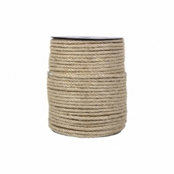 CUERDA SISAL 4 CABOS 6 MM 200 MTS NATURAL