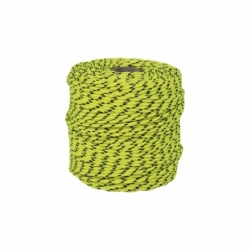 CORDON TRENZADO HIPPIE AMARILLO/NEGRO 3mm X 100 mts