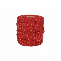 CORDON TRENZADO HIPPIE ROJO/AMARILLO 3mm X 25 mts
