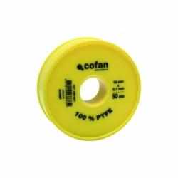 ROLLO 50 MTS CINTA PTFE DE 19mm X 0,10mm