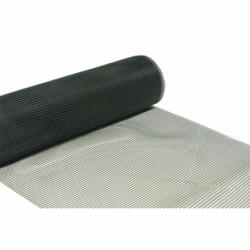 MALLA PLAST. CUADRADA JARDIN 10mm VERDE 1x25m