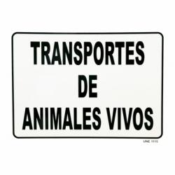 SEÑAL DE TRANSPORTE DE ANIMALES VIVOS