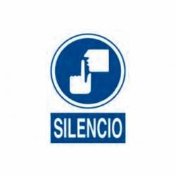 SEÑAL POLIESTIRENO 297X210 MM. SILENCIO