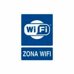 SEÑAL POLIESTIRENO 297X210 MM. ZONA WIFI