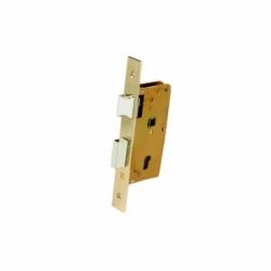 Cerradura Embutir+cerradero D47 E40- Latón (P/Madera)