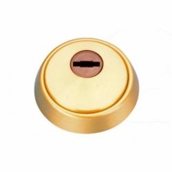 Escudo Antitaladro cerrado+tornillos- Latón