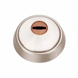 Escudo Antitaladro cerrado+tornillos- Níquel Mate