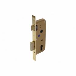 Cerradura Embutir+cerradero D85 E45- Latón (P/Madera)