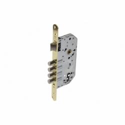 Cerradura Embutir 4 B-Redonda+cerradero D85 E50 Latón (P/Madera)