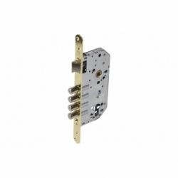 Cerradura Embutir 4 B-Cuadrada+cerradero D85 E50 Latón (P/Madera)