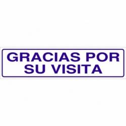 SEÑAL GLASSPACK ADHESIVA 175X45