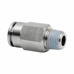 CONEXION RECTA TUBO 4mm. MACHO 1/4